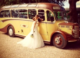 Vintage wedding bus for hire in Winchester